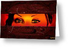 Sunset Eyes Greeting Card