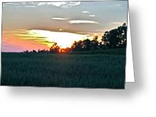 Sunset Fields Greeting Card