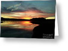 Sunset Forever My Love Greeting Card