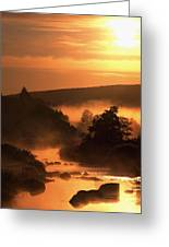 Sunset, Glendalough Glendalough, Co Greeting Card