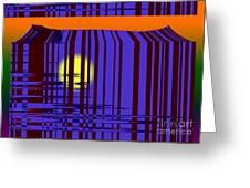 Sunset Grid Greeting Card