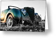 Sunset Hot Rod Greeting Card