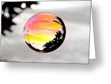 Sunset In A Bubble Greeting Card