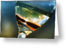 Sunset In A Glass Greeting Card