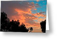 Sunset In Calm Skies Two Greeting Card