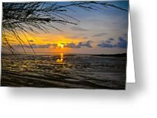 Sunset In Jeram Greeting Card
