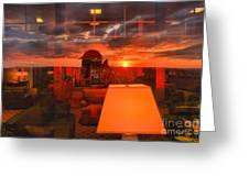 Sunset In Mckeever Lobby Greeting Card