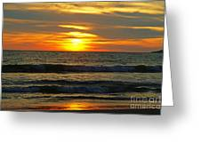 Sunset In Mexico Greeting Card