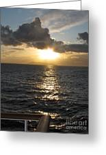 Sunset In The Black Sea Greeting Card