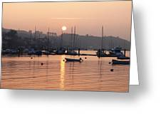 Sunset In The Harbor Crosshaven County Greeting Card