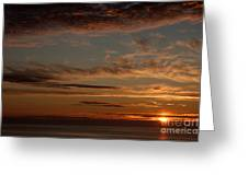 Sunset In The Pacific Ocean 3 Greeting Card