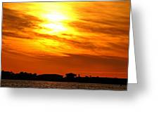 Sunset Ix Greeting Card