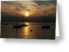 Sunset Lake Maggiore Greeting Card