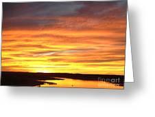 Sunset Lake Travis Greeting Card