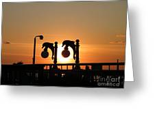 Sunset Lamps R Greeting Card by Laurence Oliver