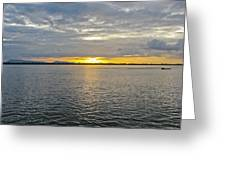 Sunset Landscape Greeting Card by Nawarat Namphon
