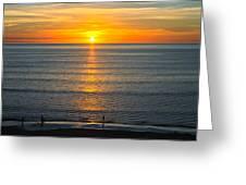 Sunset - Moana Beach - South Australia Greeting Card