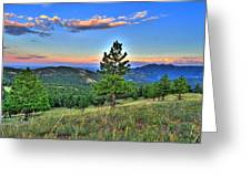 Sunset Mountain Greeting Card
