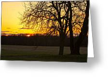 Sunset Near The Jersey Shore Greeting Card
