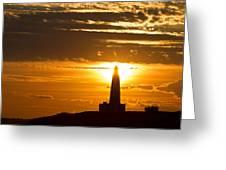 Sunset Obelisk Greeting Card