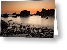 Sunset On A Rock Greeting Card