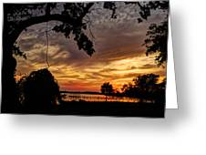 Sunset On Biloxi Bay Greeting Card