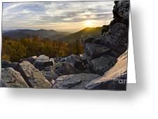 Sunset On Black Rock Mountain Greeting Card
