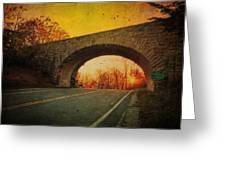 Sunset On Blue Ridge Parkway Greeting Card