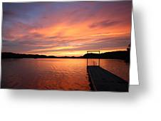 Sunset On Chilhowee Greeting Card