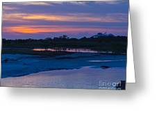 Sunset On Honeymoon Island Greeting Card