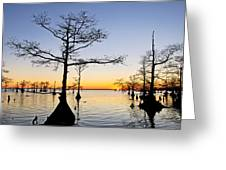 Sunset On Lake Mattamuskeet Greeting Card