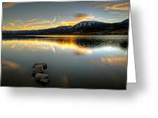 Sunset On Little Washoe Greeting Card