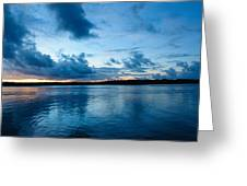 Sunset On Noosa River Greeting Card