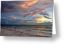 Sunset On Pass-a-grille Beach Florida Greeting Card
