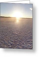 Sunset On Salt Lake Greeting Card
