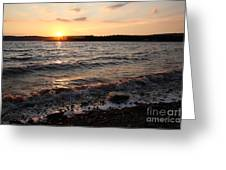 Sunset On The Bay Of Fundy Greeting Card