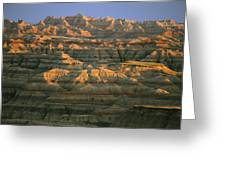 Sunset On The Geological Formations Greeting Card