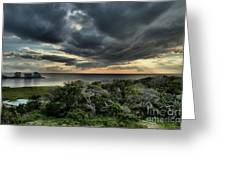Sunset On The Sound Greeting Card