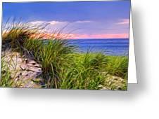 Sunset On Wellfleet Dunes Greeting Card