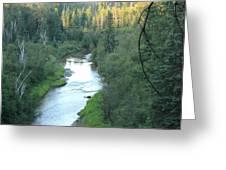 Sunset On Whitemud Creek 2 Greeting Card