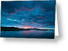 Sunset Over A River  Greeting Card