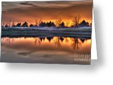 Sunset Over Bryzn Greeting Card