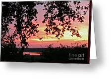 Sunset Over Canyon Lake Greeting Card