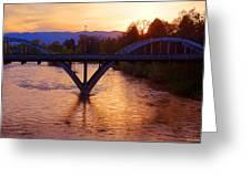 Sunset Over Caveman Bridge Greeting Card