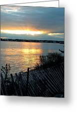 Sunset Over Cedar Creek Greeting Card