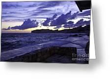 Sunset Over Dubrovnik Greeting Card