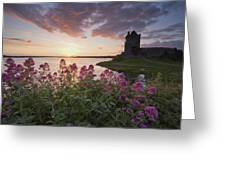 Sunset Over Dunguaire Castle, Kinvara Greeting Card