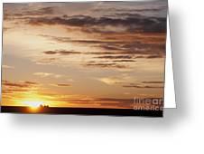 Sunset Over Grain Bins Greeting Card