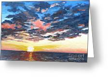 Sunset Over Green Bay Greeting Card
