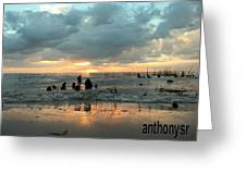 Sunset Over Lake Pontchartrain Greeting Card